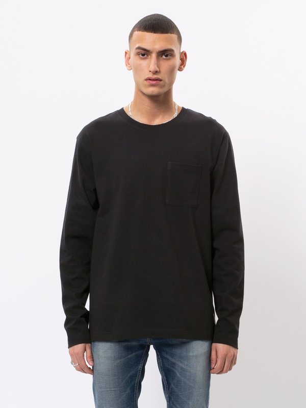 Rudi Pocket Tee Black long-sleeved tees