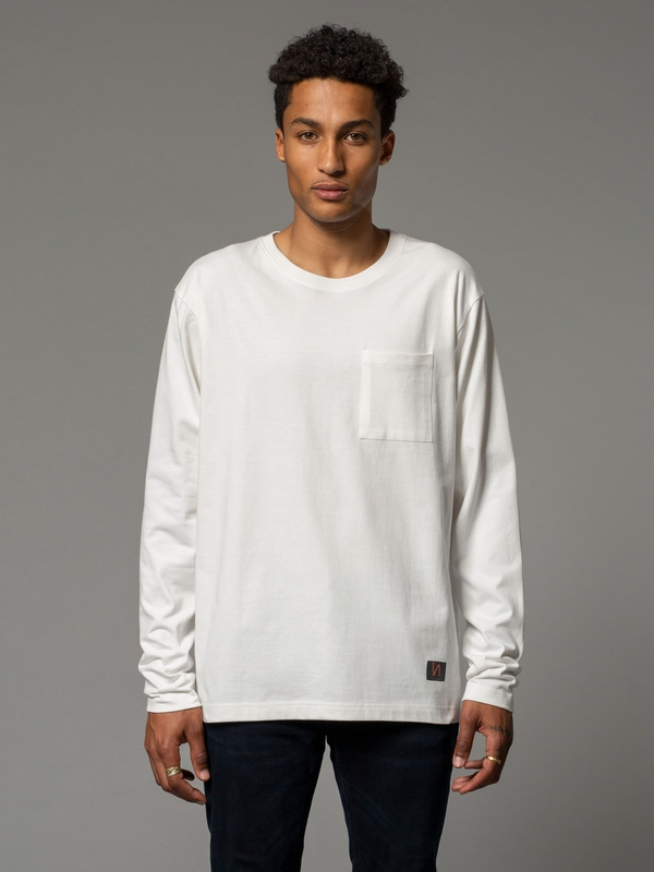 Rudi Pocket Tee Powder long-sleeved tees
