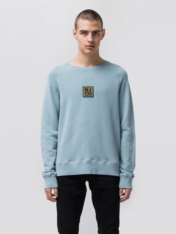 Rune Badge Blue Metal sweatshirts sweaters