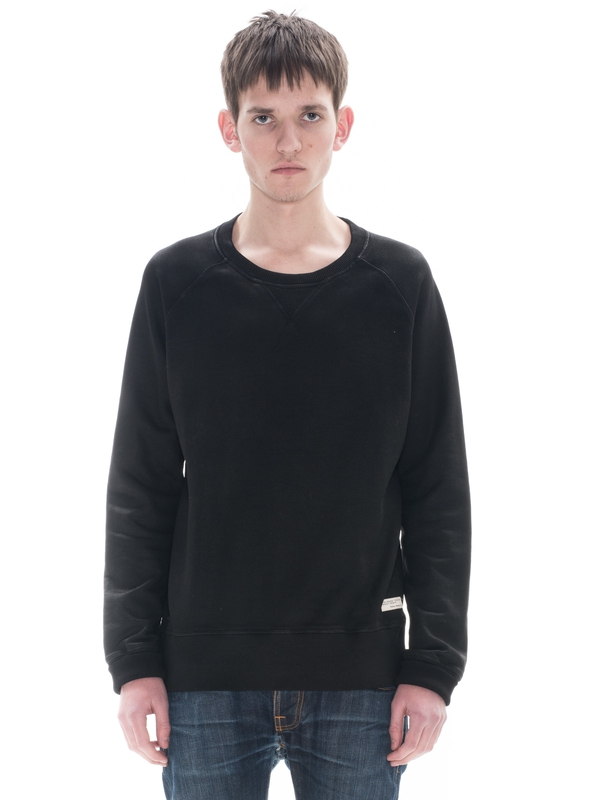 Samuel Coated Sweatshirt Black regular sweaters