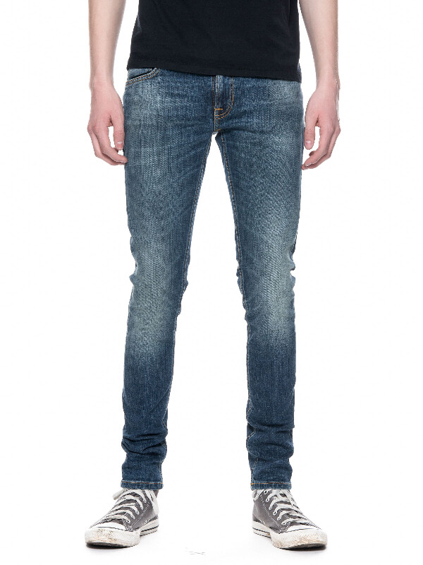 Skinny Lin Sharp Worn prewashed jeans