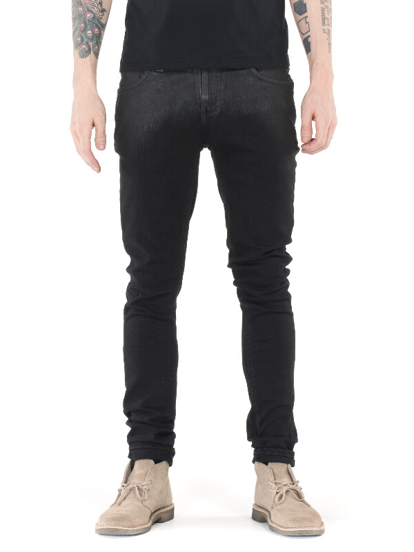 Skinny Lin Shiny Black prewashed jeans