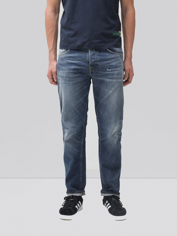 Sleepy Sixten Authentic Green prewashed jeans