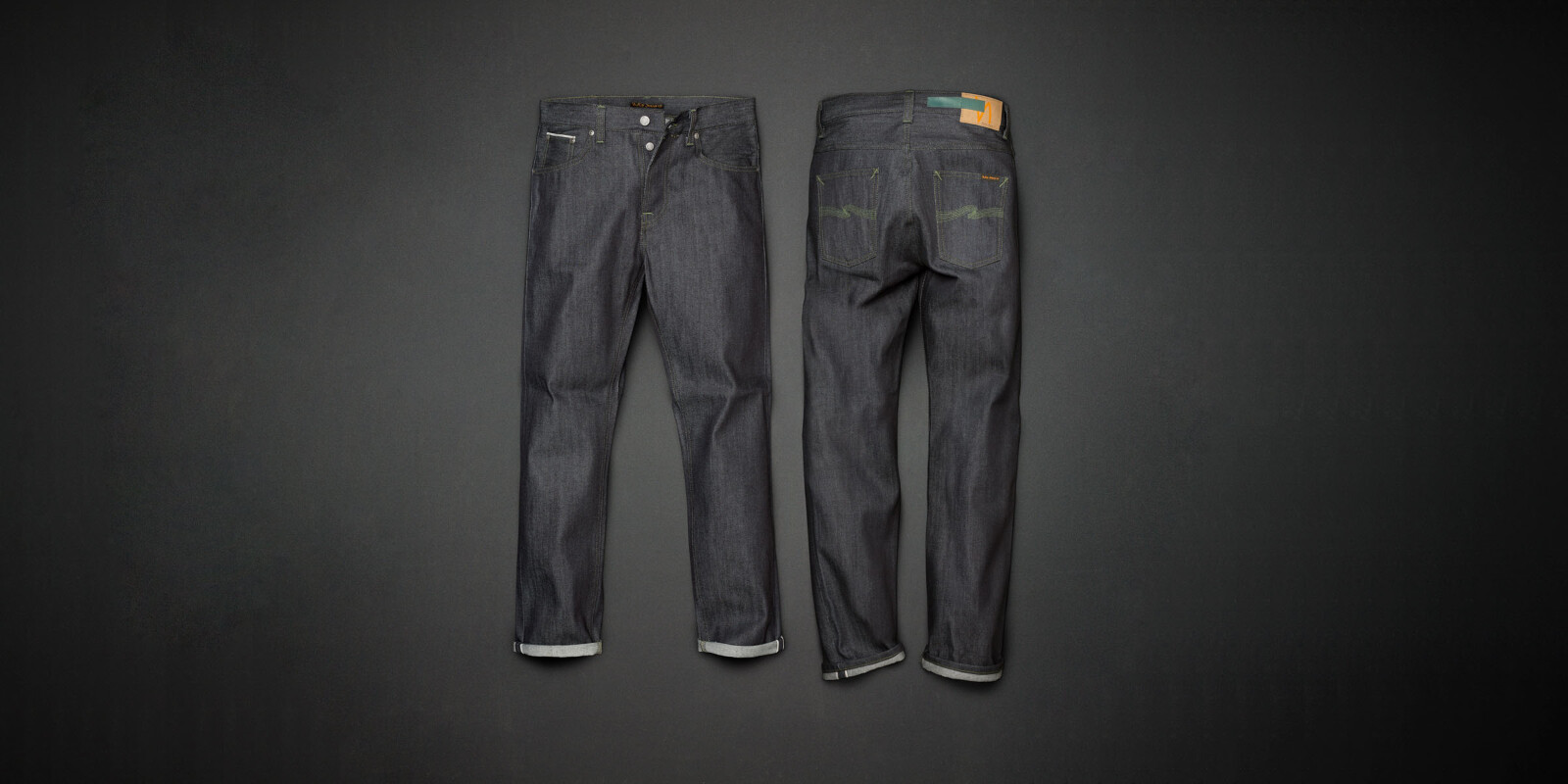 Sleepy Sixten Dry Green Selvage dry jeans