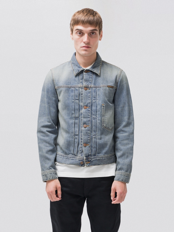 Sonny Mid Stone prewashed denim-jackets