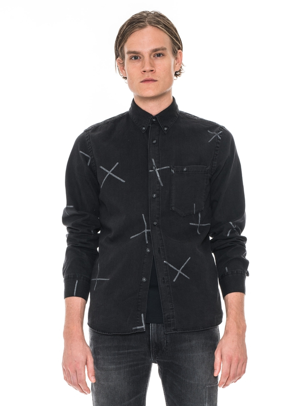 Stanley Chalk Print Black shirts