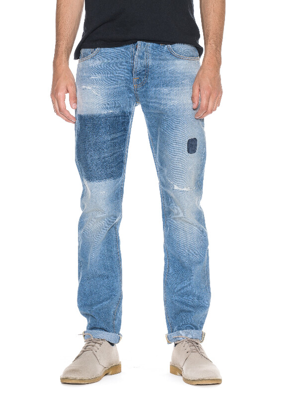 Steady Eddie Indigo Patched prewashed jeans