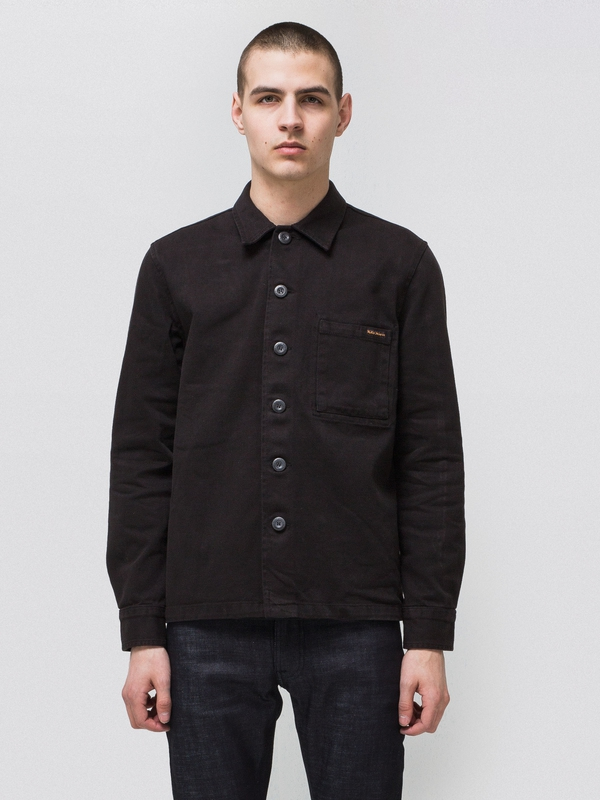 Sten Army Twill Black shirts long-sleeved