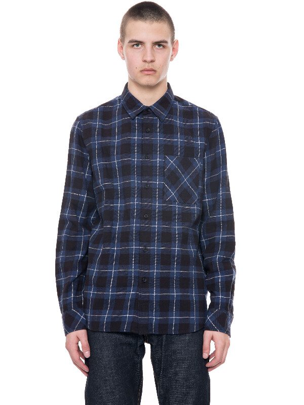 Sten Block Check Black/Indigo shirts