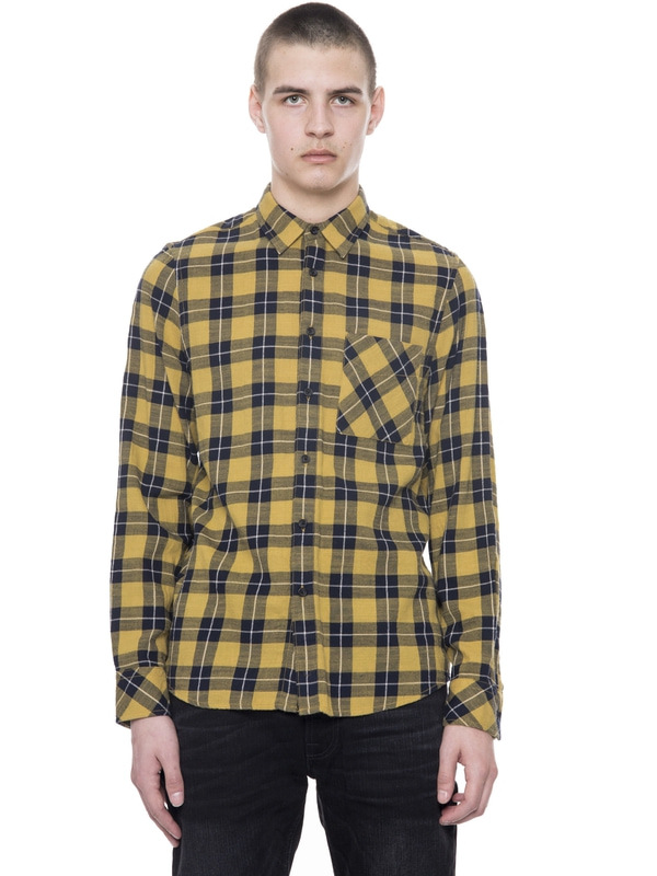 Sten Block Check Yellow/Navy shirts