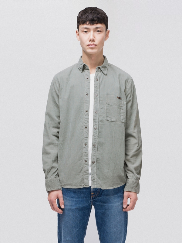 Sten Cord Ash long-sleeved shirts