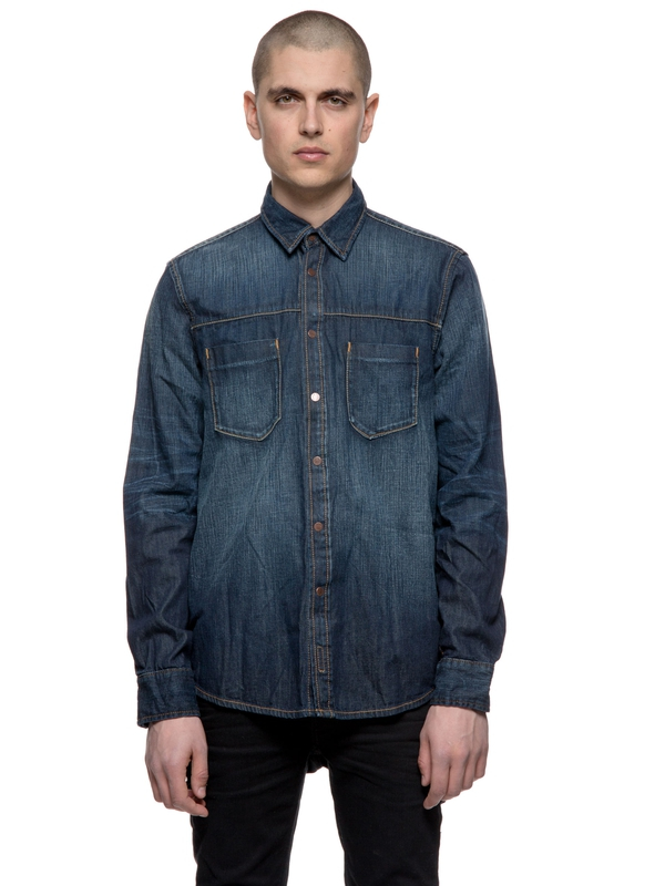 Sten Dark Authentique Denim long-sleeved shirts