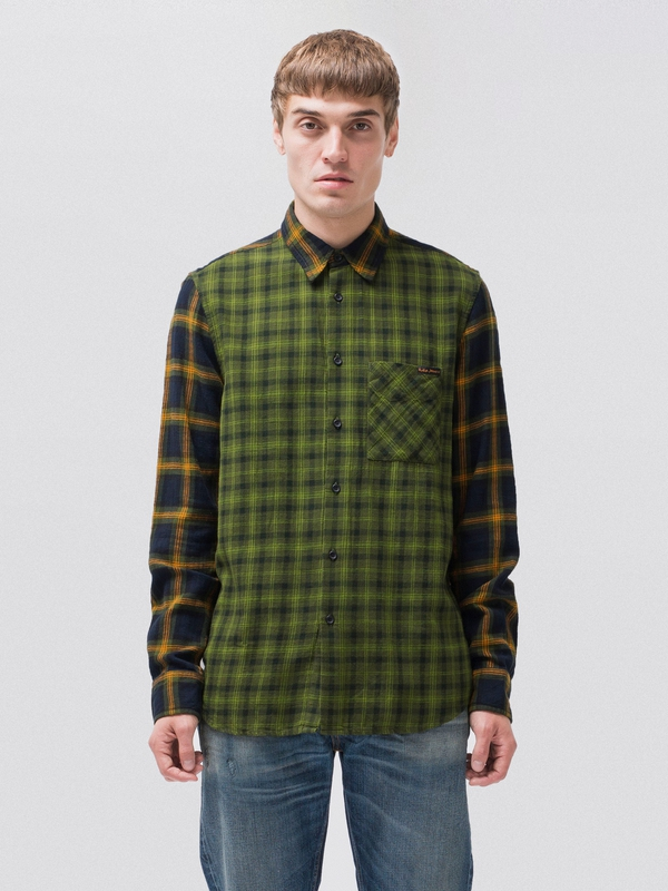Sten Double Check long-sleeved shirts