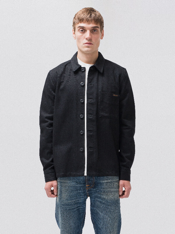 Sten Dry Bold Black long-sleeved shirts denim