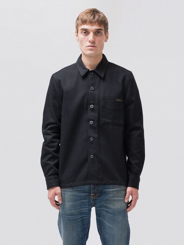 Sten Dry Bold Black shirts long-sleeved long-sleeved-denim