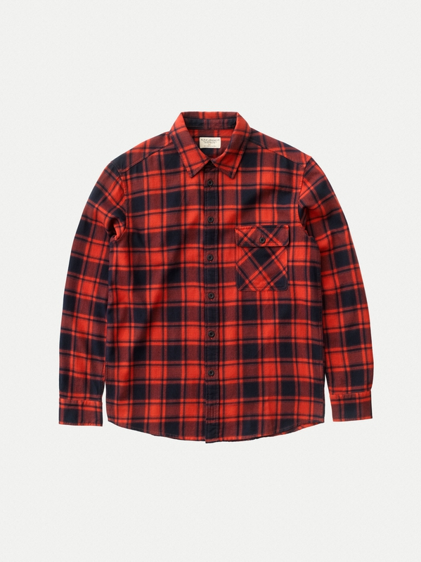 Sten Flannel Check long-sleeved shirts