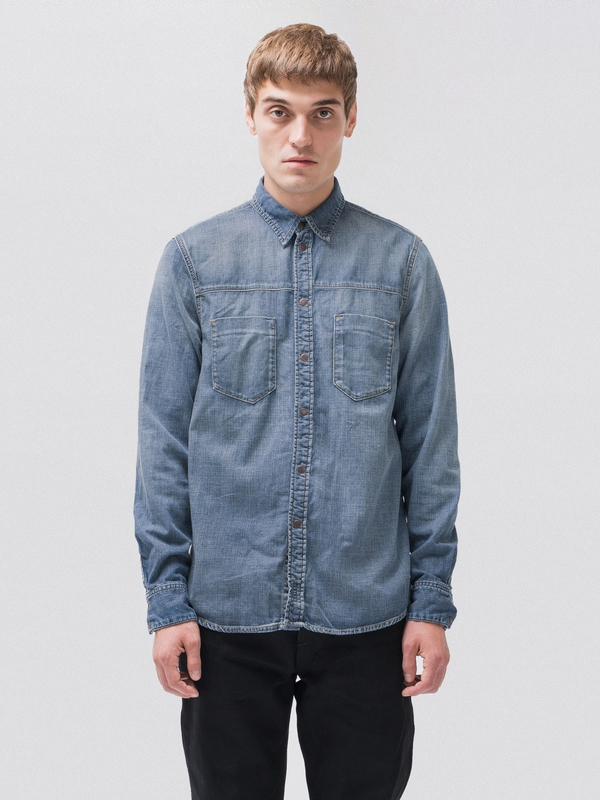 Sten Joshua Worn long-sleeved shirts long-sleeved-denim