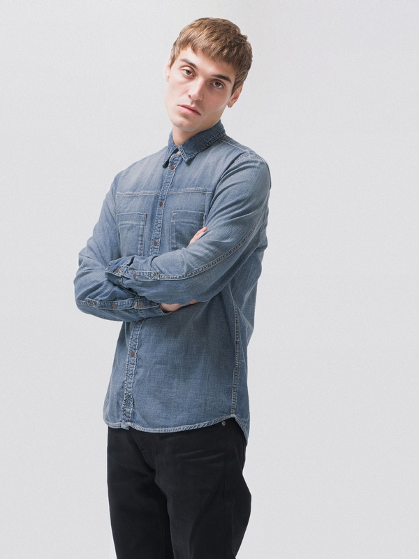 Sten Joshua Worn long-sleeved shirts denim