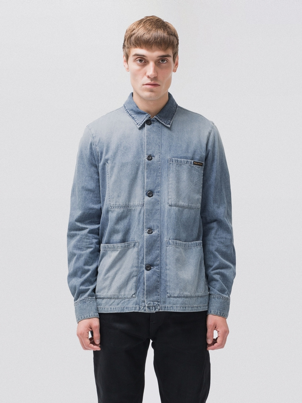 Sten Light Authentic long-sleeved shirts long-sleeved-denim