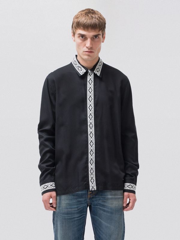 Sten Moose Embroidery long-sleeved shirts long-sleeved-denim