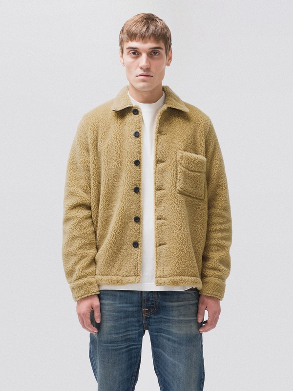 Sten Recycled Fleece Beige jackets