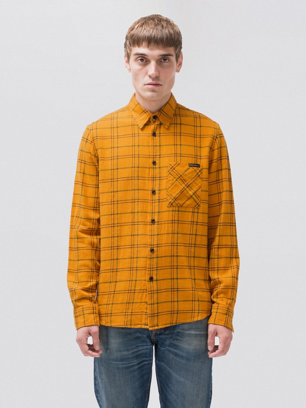 Sten Tartan Check long-sleeved shirts long-sleeved-denim