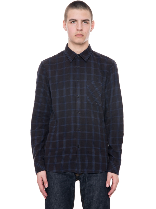 Sten Window Check Black/Indigo shirts