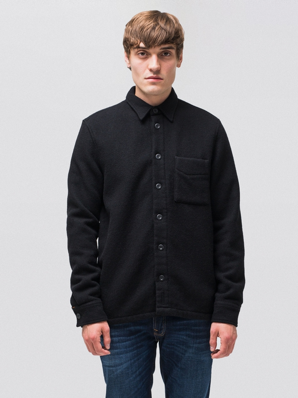 Sten Wool Overshirt Black shirts