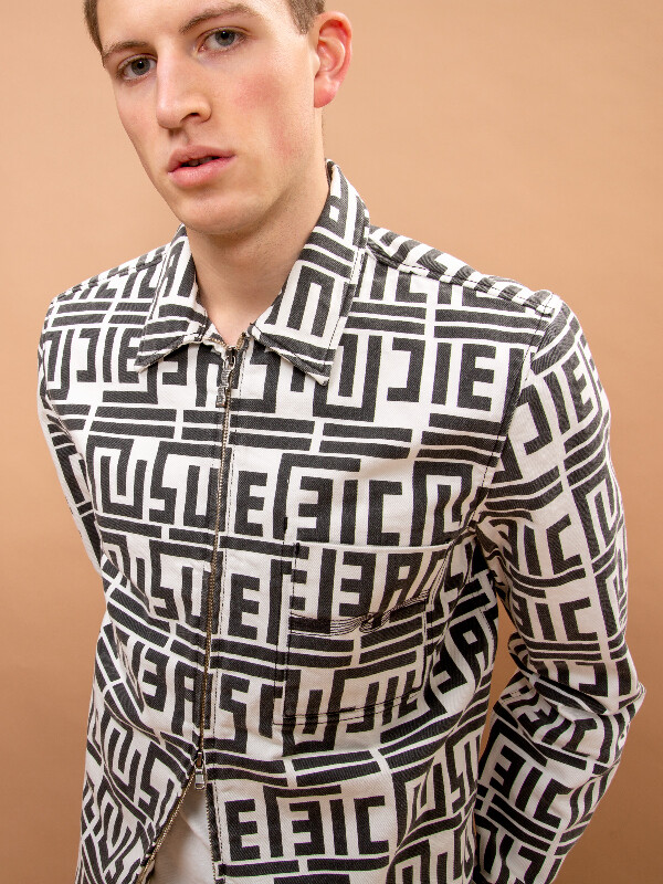 Sten Zip Graphic Print long-sleeved shirts