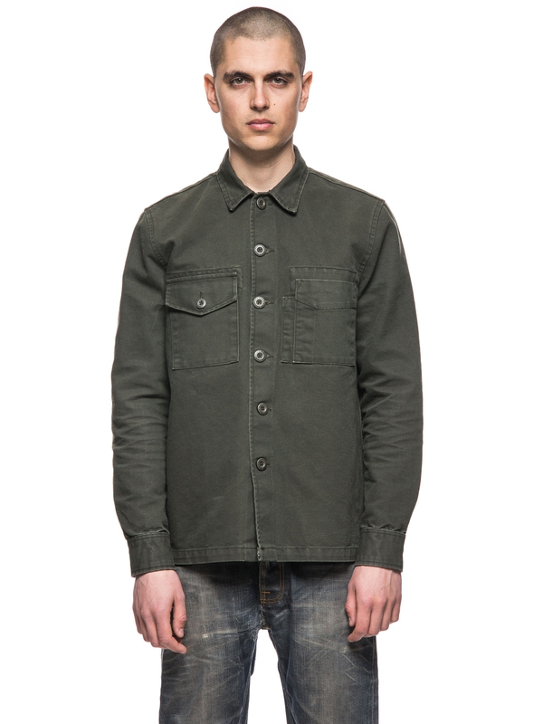 Sten Army Canvas Dk Desert Green long-sleeved shirts
