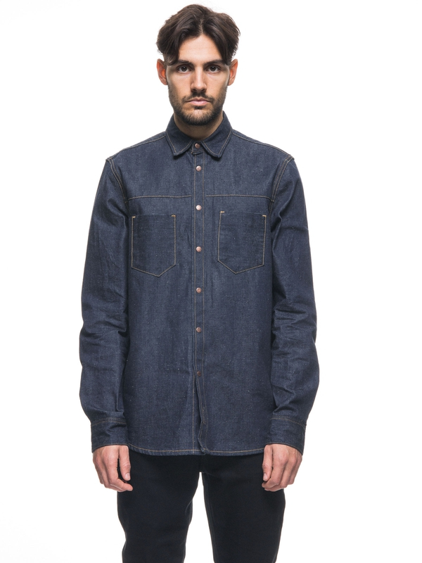 Sten Dry Selvage Denim long-sleeved shirts