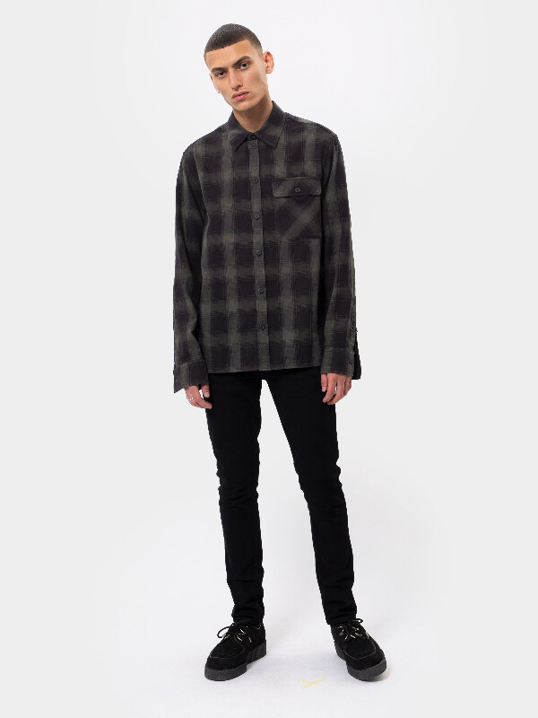 Sten Shadow Check Black long-sleeved shirts