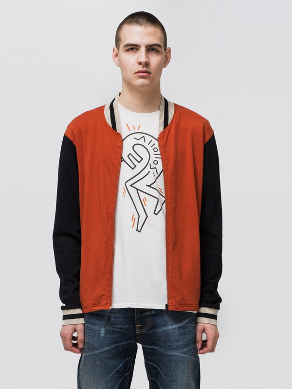 Sture Jersey Bomber Jacket Terra zipped sweaters