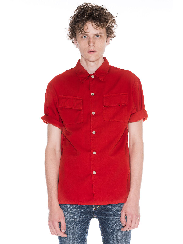 Svante Overdyed Blood Orange shirts