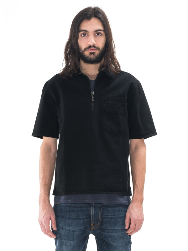 Svante Zip Black shirts