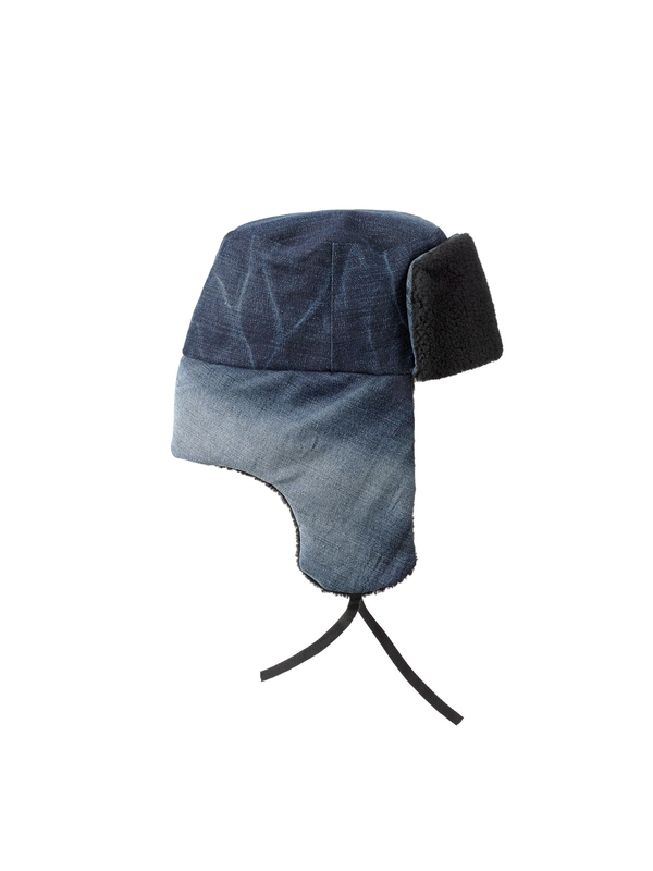 Svensson Recycled Trapper Hat Denim hats accessories