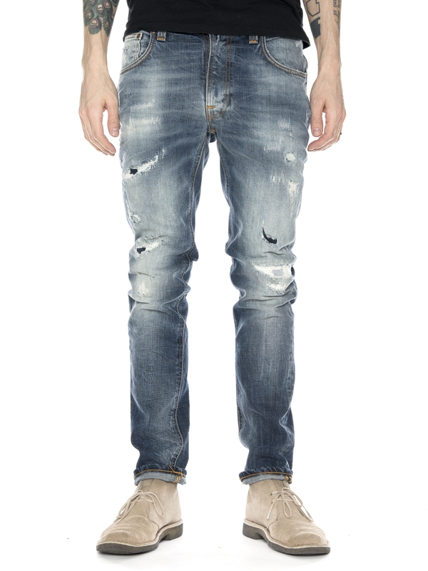 Thin Finn David Replica prewashed jeans