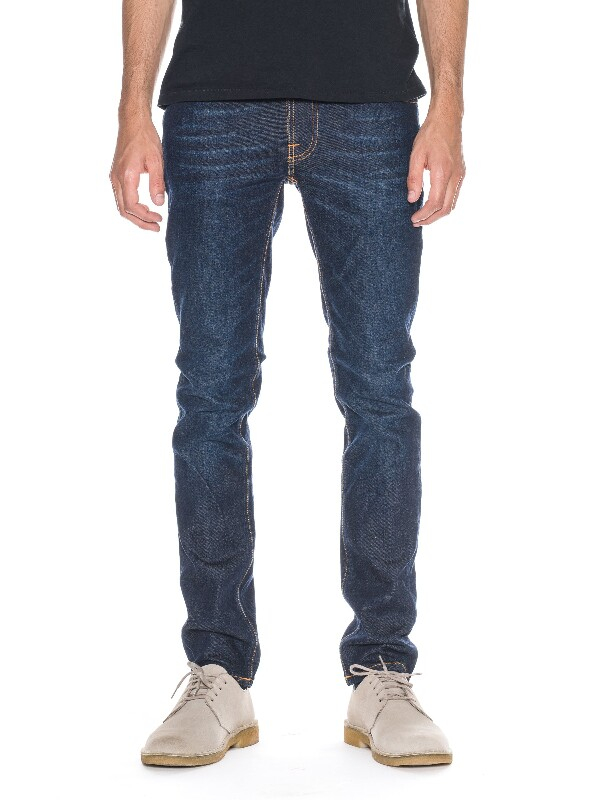 Thin Finn Dark Navy Dip prewashed jeans