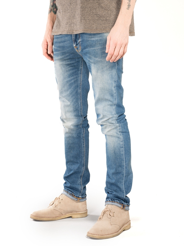Thin Finn Flood Used prewashed jeans
