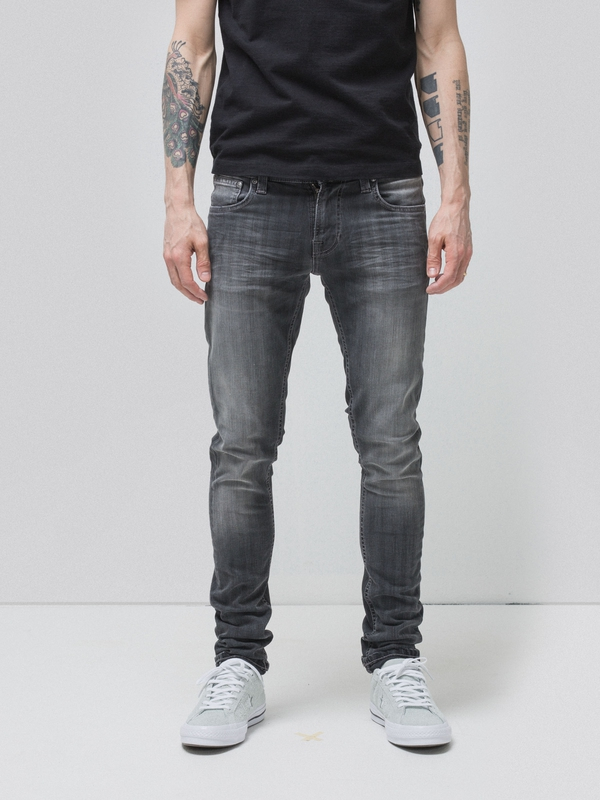 Tight Terry Grey Pinstripe prewashed jeans