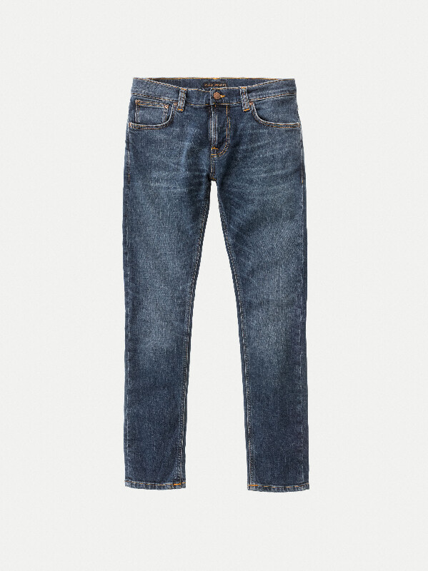 Tight Terry Mid Blue Orange jeans prewashed