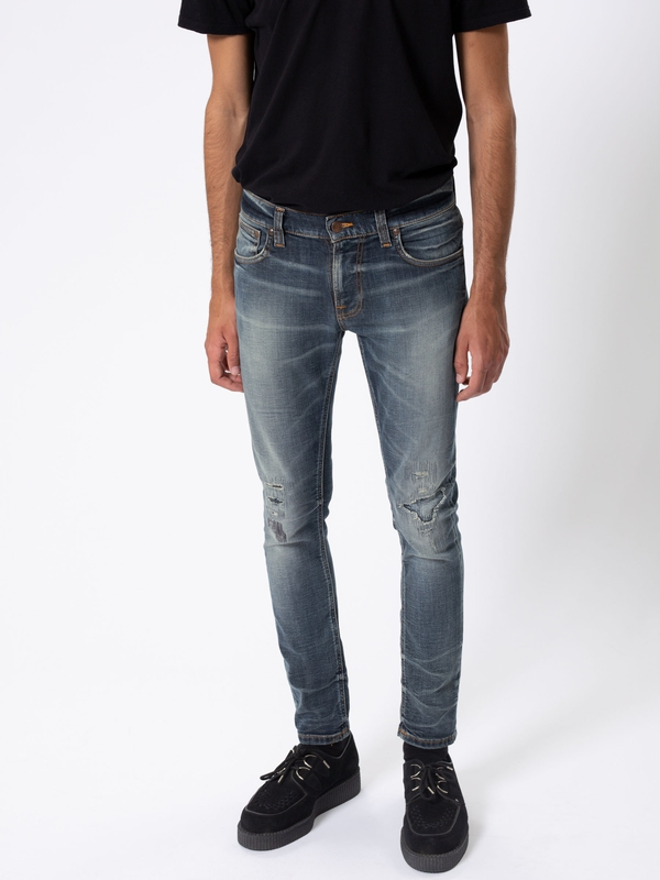 Tight Terry Worn Repaired prewashed jeans