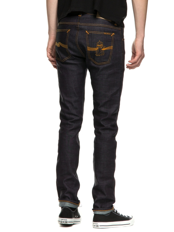 Tilted Tor Dry Royal Embo dry jeans