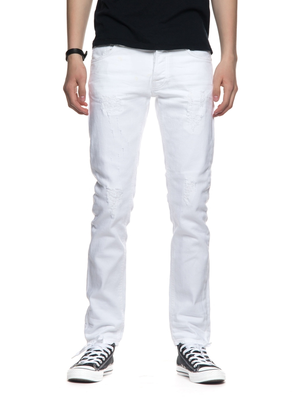 Tilted Tor Pitch White prewashed jeans