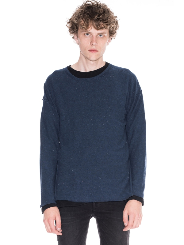 Tomas Recycled Denim Navy knits