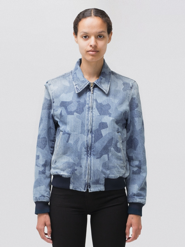 Gudrun Camo Denim prewashed denim-jackets