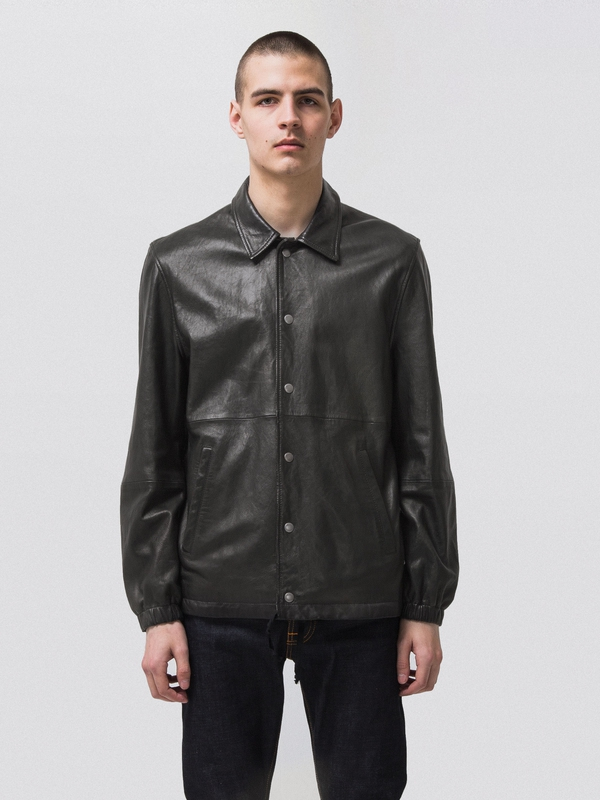 Torkel Coach Leather Jkt Black jackets