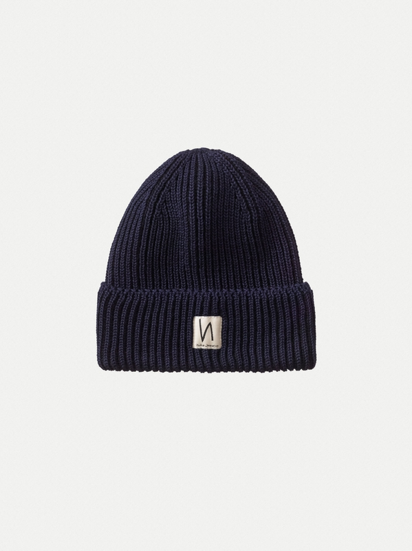 Tysson Ribbed Beanie Navy