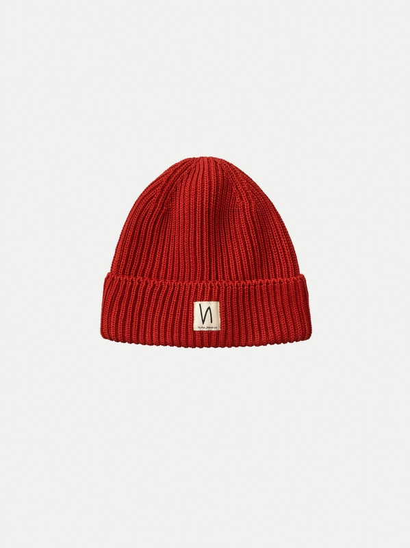 Tysson Ribbed Beanie Red
