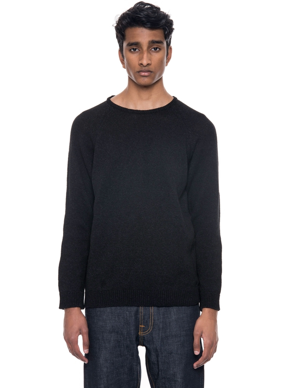 Valdemar Sleeve Patch Black/Indigo knits